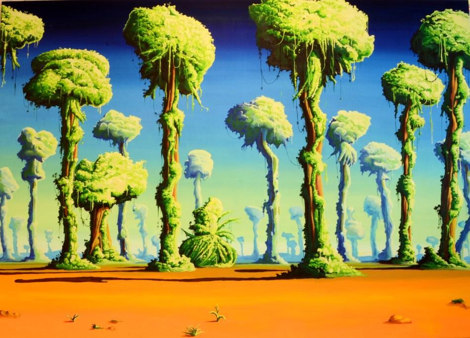 forest, 170 x 240 cm, acrylic on canvas