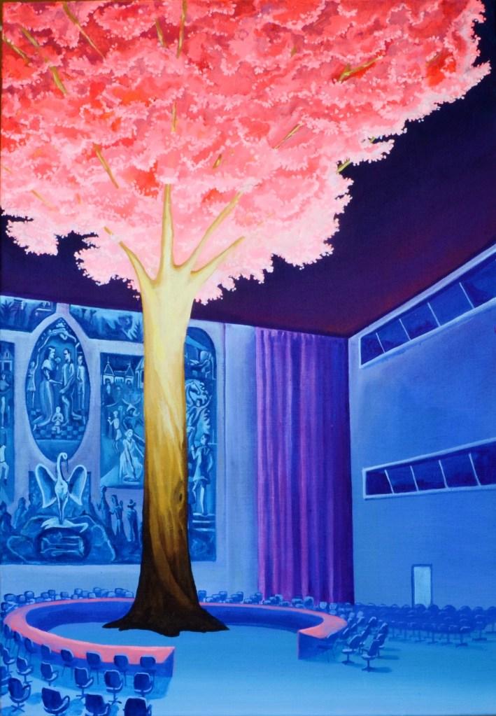 power plant 100 x 70 cm, acrylic on canvas