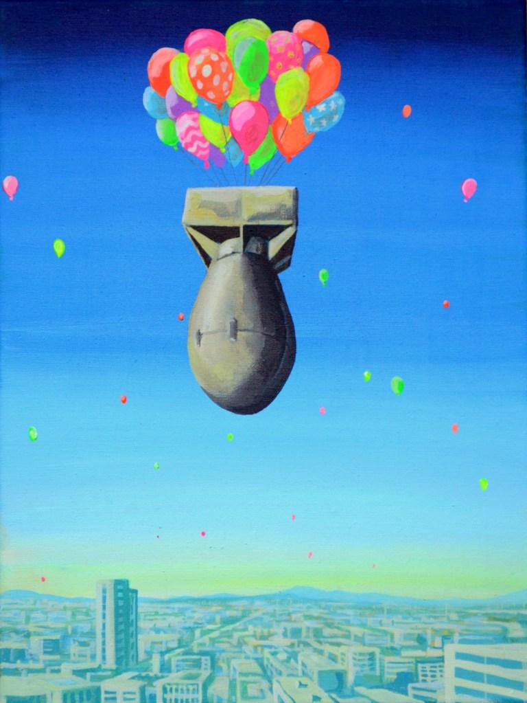 silent sky, acrylic on Canvas, 40 x 30 cm